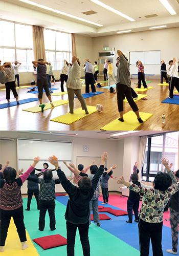 茨城県河内町 健康ヨガ教室